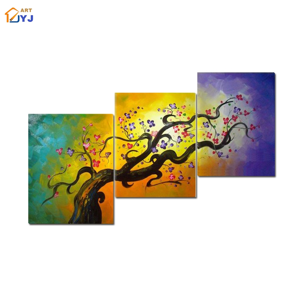 Chinese Flower Canvas Painting Wall Art Gift for Living Room ...