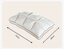 Top Quality Brand Design 3D Bread White Duck/Goose Down Feather Pillow Standard Antibacterial Elegant Home Textile Free Shipping