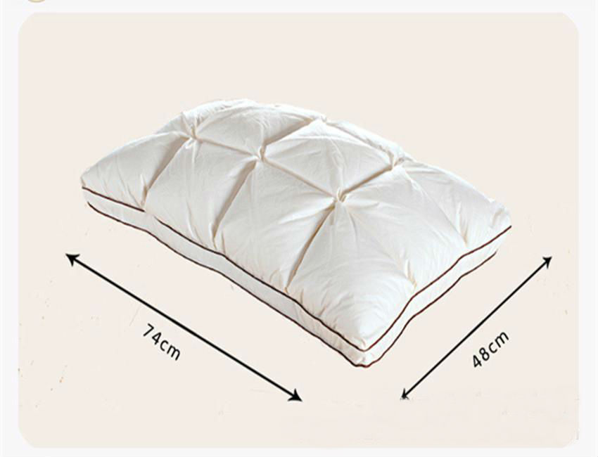 top quality brand design 3d bread white duckgoose down feather pillow standard elegant