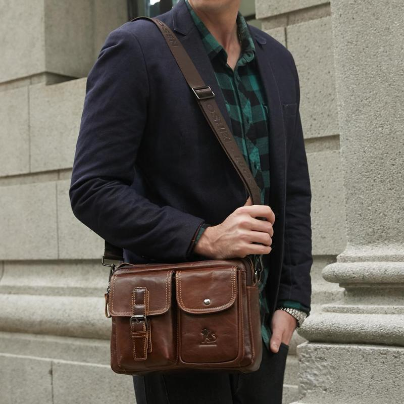 HTB1E4AGPQzoK1RjSZFlq6yi4VXaS Men Business Briefcase Vintage Genuine Leather Laptop Messenger Bag Cowhide Big Capacity Tote Office Handbag Men Briefcase