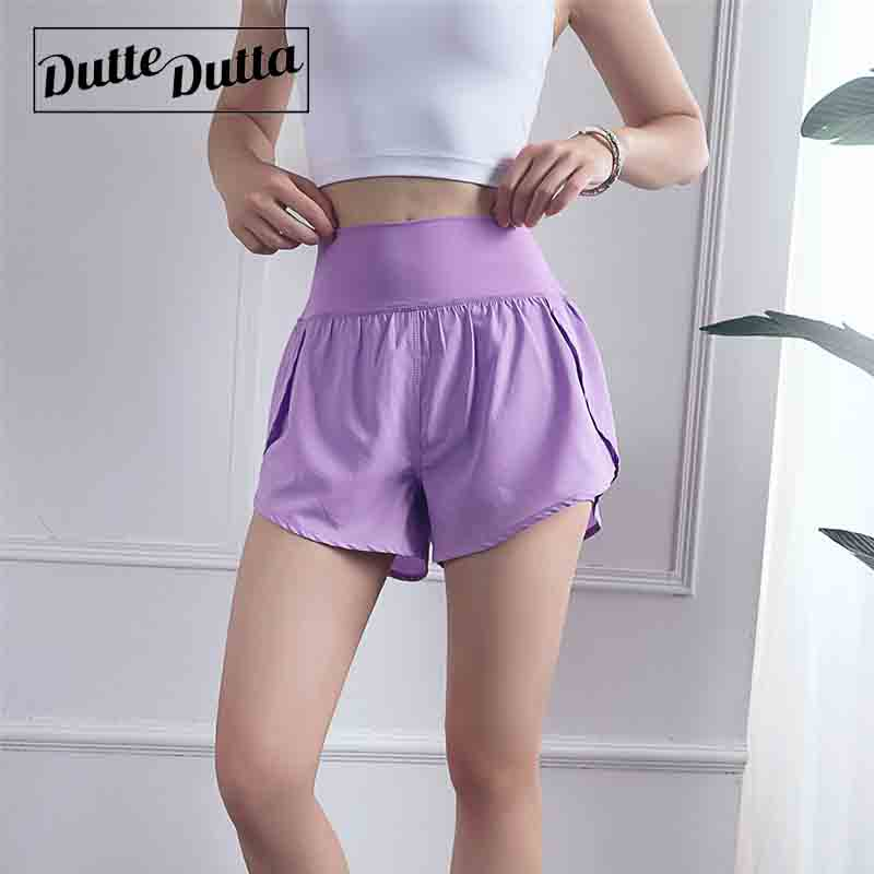 2019 Summer New Light Breathable  Quick-Drying Sports Shorts Women Fluffy Hip High Waist Sports  Shorts Skirt Shorts