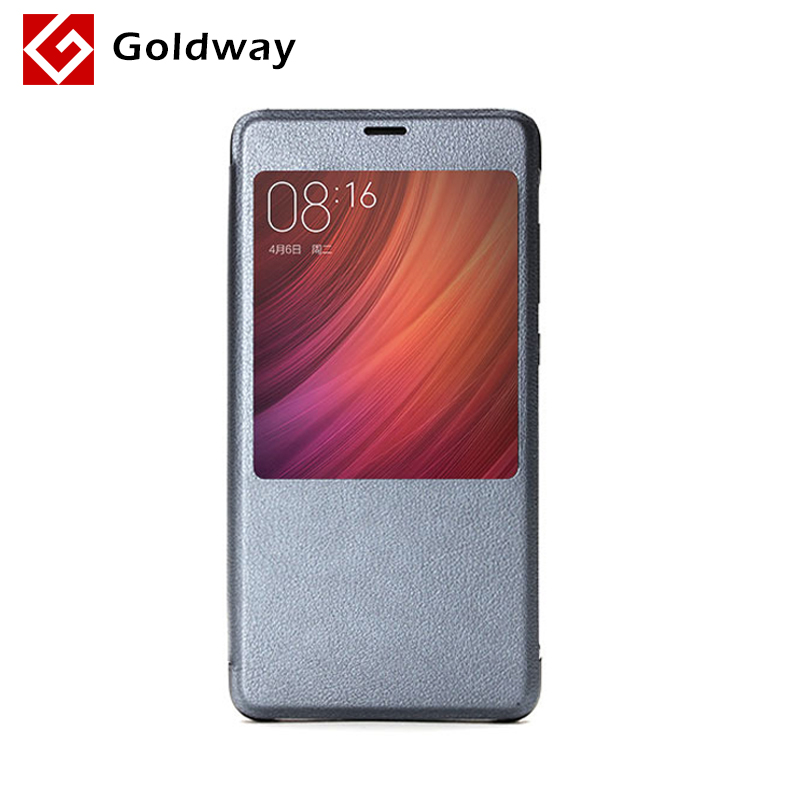 100% Original Xiaomi Redmi Pro PC+PU Synthetic Plastic Leather Case Flip Protective with Back Cover Grey White Optional 1Pcs