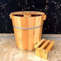 New Fashion Cunninghamia Lanceolata Bath Tub Cover Foot Bath Tub Thicker Foot Bath Tub Massage Foot Soaking Wood Home Furniture