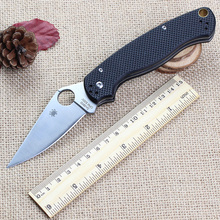 Hot! C81 Tactical Folding knife G10 handle + 9cr13 steel blade folding knife camping survival knives Outdoor Pocket EDC