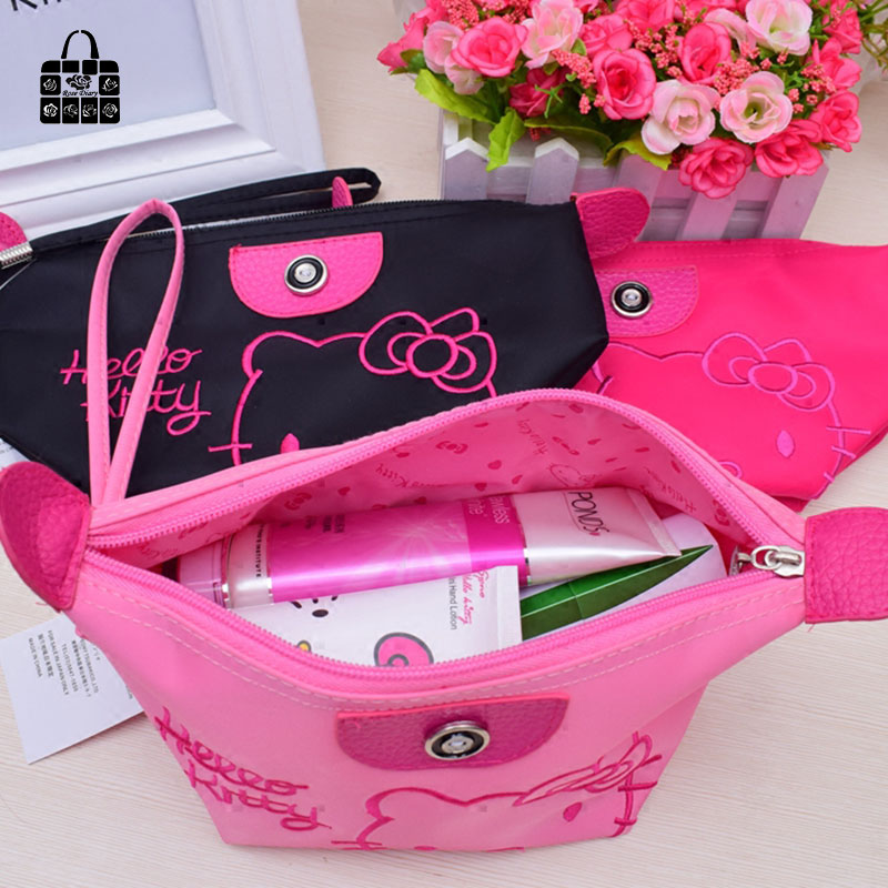 1pcs Women Portable Cute hello kitty Multifunction Beauty ZipperTravel  Cosmetic Bag Makeup Case Toiletry Pouch Cosmetic Cases-in Cosmetic Bags   Cases  from ... dd6d49d77b