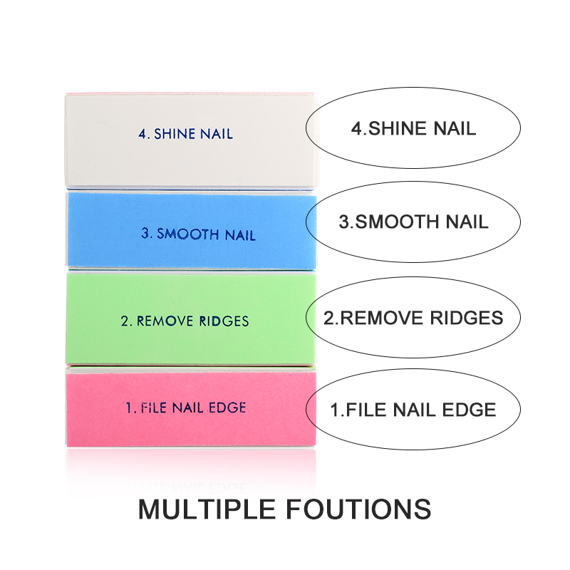 Hot Sale Nail Buffer Spong Tools 4 Sides Nail Files Polish Washable Tools Finger Nail Nail Art Tools