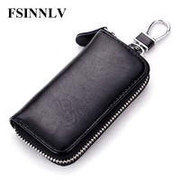 New Arrival Genuine Leather Key Holder Unisex Fashion Key Wallet 7 Colors Key Organizer Key Holder