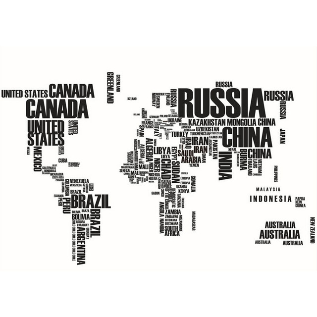 Black letters world map removable vinyl decal art mural wall paper black letters world map removable vinyl decal art mural wall paper gumiabroncs Choice Image