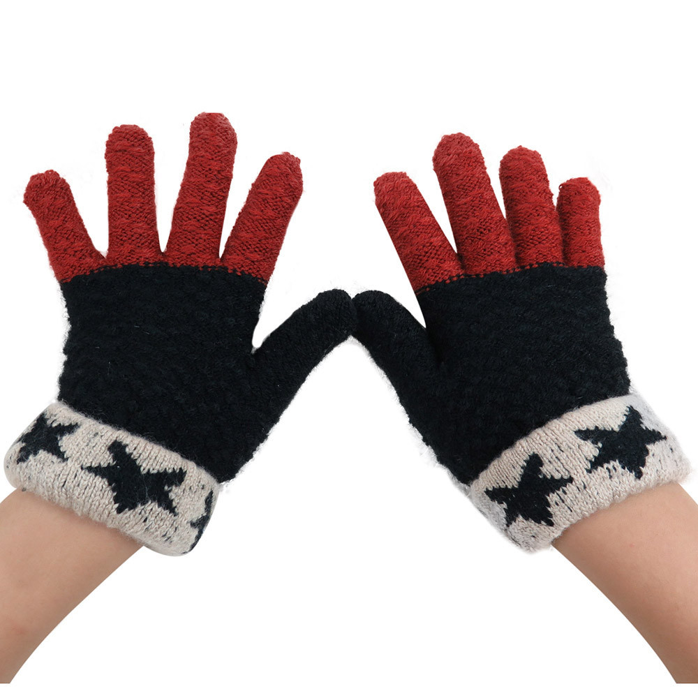 Mens leather kid gloves - 2017 Fashion Children Kids Knitted Winter Gloves Cashmere Soft Warm Comfortable Christmas Lovely Mitten Guantes