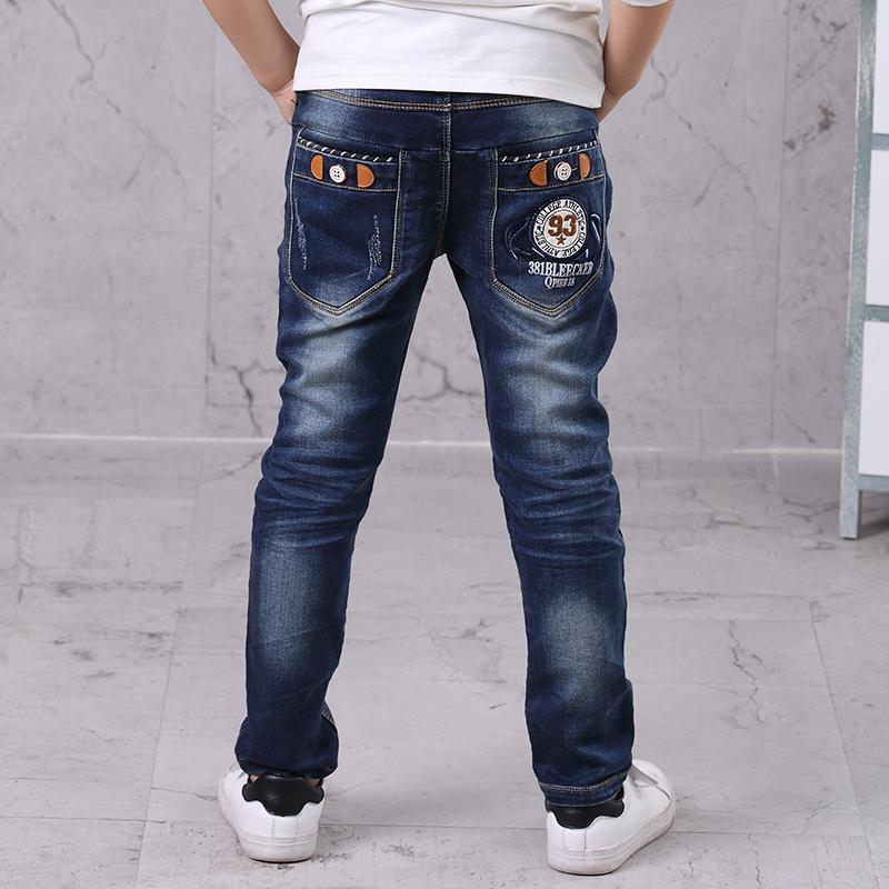 5d0efbbb3f3 Kids Boys Jeans Full Length Denim Pants Spring Autumn Fashion Boys Pants  Casual Children Boys Clothing 4 5 6 7 8 9 10 11 12 14T