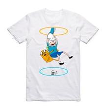 2017 Men Women Printing Portal Logo Funny T Shirt Summer Cool O Neck Short Sleeve Streetwear Video Game T-shirt