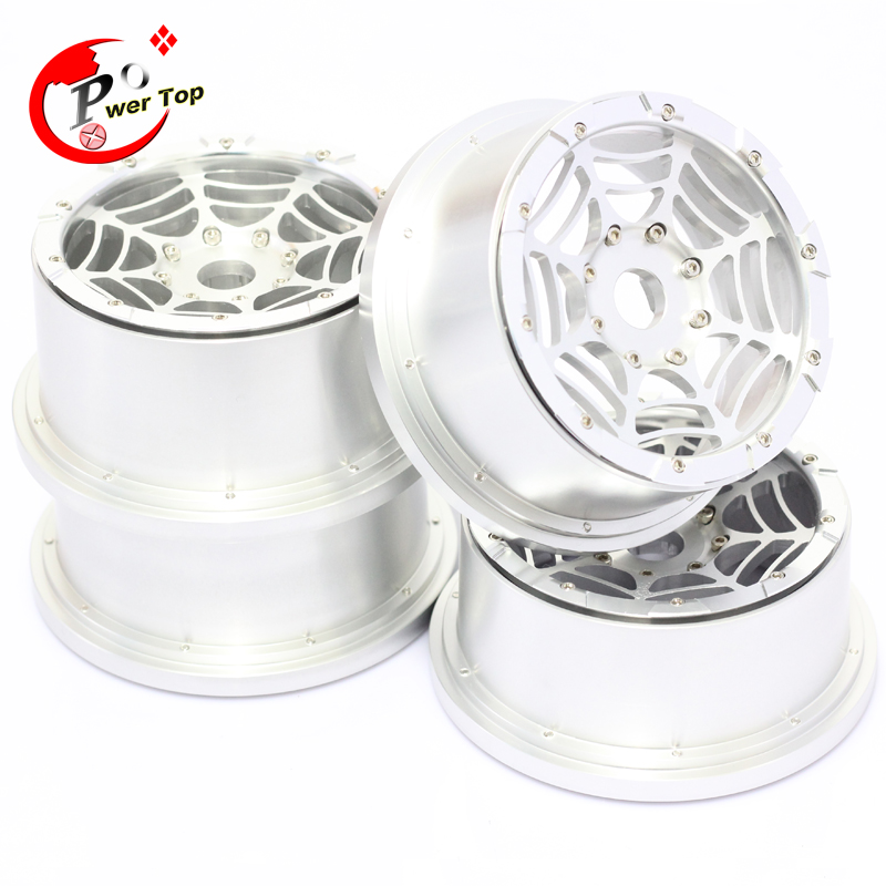 King Motor Baja T1000 Spider alloy wheel hub rim for HPI BAJA 5T Parts Rovan Free Shipping alloy front hub carrier for 1 5 hpi baja 5b 5t 5sc