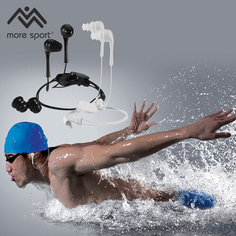 3.5mm AUX MS Wired Earphone Sports Swimming Waterproof Earphone Headphone For iPhone Mobile phone MP3 for mp3 mp4 xiaomi
