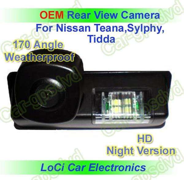 Free shipping! Nissan Teana,Sylphy,Tidda Rear View Backup Camera+ water proof,night vision,special rear view camera