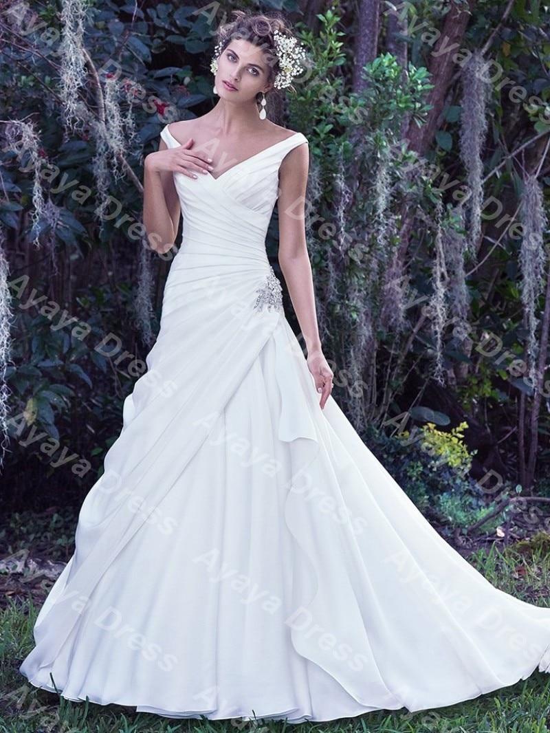 Medium Crop Of Drop Waist Wedding Dress