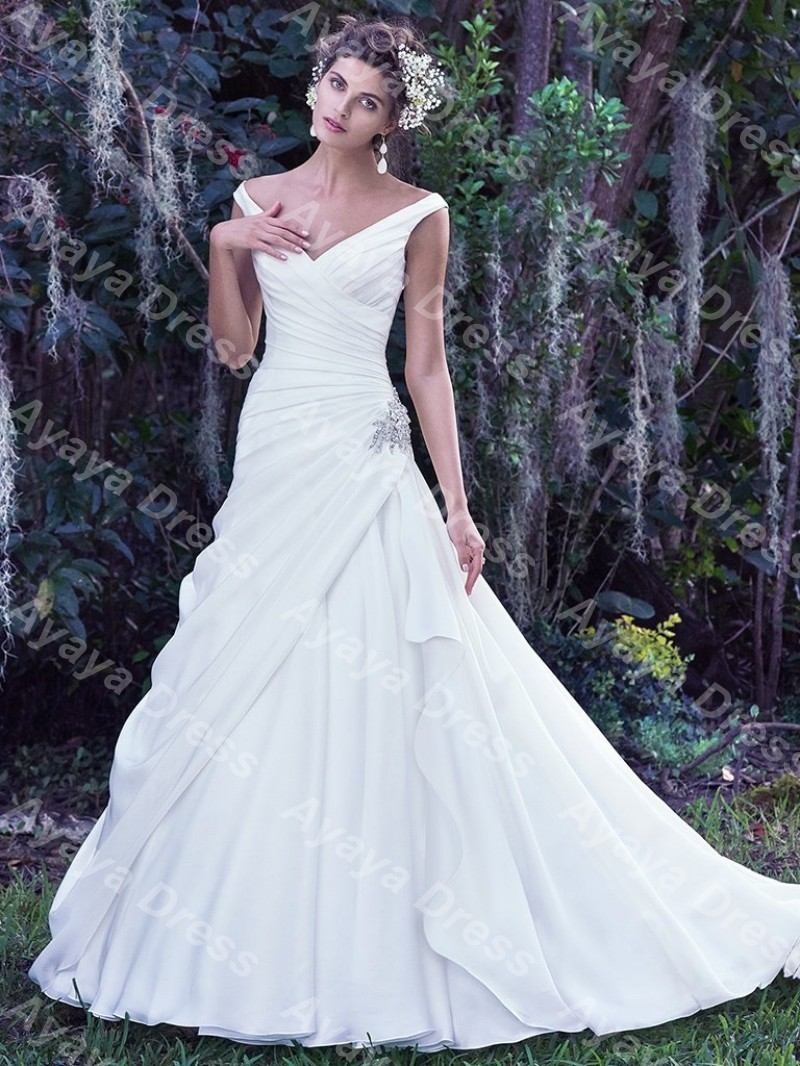 Medium Of Drop Waist Wedding Dress