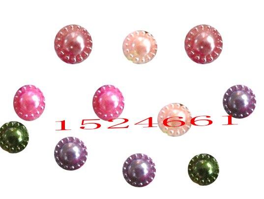 12 мм цвета смешивания цветов форма устанавливает Flatback Бусы ** имитация жемчуг Акриловые Spacer шар Круглые Бусины