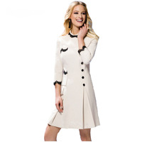 New Arrival Fall 2017 Elegant 3 4 Sleeve White Lace Dress 170816X01