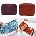 Maquillaje cosmético del bolso casos Nylon impermeable Necessaries maquillaje Organizador del artículo De tocador Kits De viaje bolsa Organizador De Maquiagem