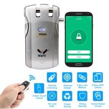 WAFU 010W אלחוטי WIFI חכם דלת נעילת Keyless כניסה אלקטרוני מנעול דלת APP מרחוק נעילה עם 4 מפתחות מרחוק