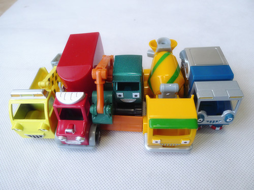 Bob The Builder Lots of 5pcs Vehicles Packer/Flex/Tumbler/Bristle/Grabber Loose