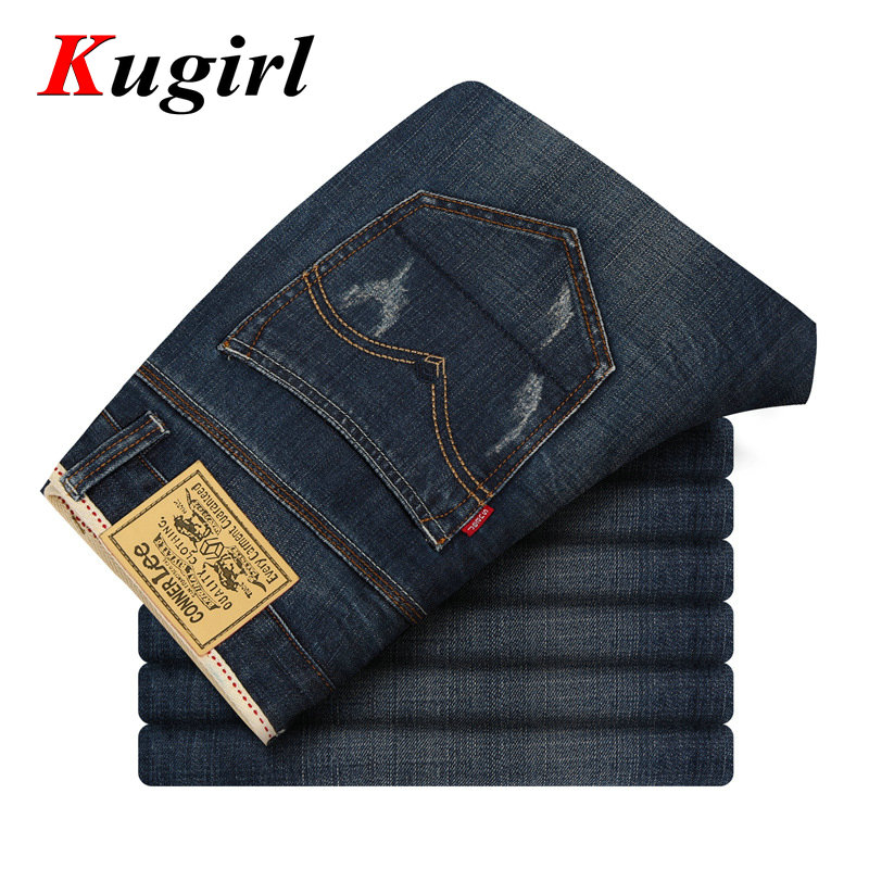 ФОТО CONNER LEE jeans men back pocket stripe high quality pants jeans male Casual straight jeans Denim cotton Skinny jean mens