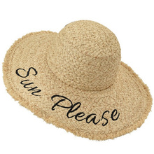 Женские шляпы ручной работы с надписями, соломенная шляпа с большими полями, летняя пляжная шляпа