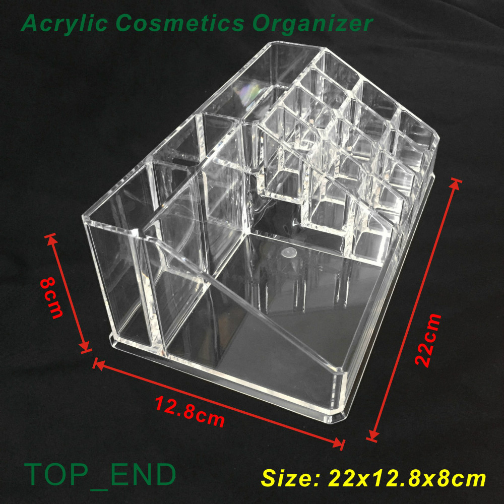 Aliexpress.com : Buy Free Shipping,Crystal Clear,Acrylic Cosmetics/Make Up  Organizer,16 Compartments Rack,Makeup Storages Kit,Desk Makeup Box/Storage  From ...