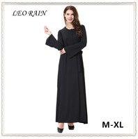 Summer Muslim Black Milk Silk Long Sleeve Maxi Dress Oversize Arab Middle East Robe Longue Femme