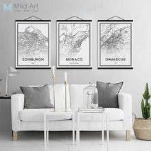 Buy poster las vegas and get free shipping on aliexpress black and white world city map toronto las vegas wooden framed posters nordic canvas painting home gumiabroncs Choice Image