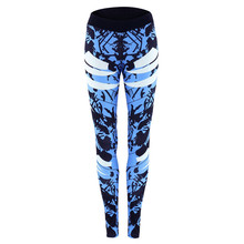 LoRun Yoga Leggings Women Elastic High Waist Floral Printed camouflage Sports Trousers Women's Tracksuit Running Fitness Pants