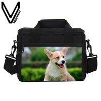 Welsh Corgi Lunch Bags For Girls Cute Animals Pembroke Lunch Box Food Thermal Bag Lunch Bags For Women Casual Lunch Picnic Bags