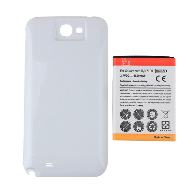 big sale b45f8 c3c02 US $8.57 25% OFF|GOLDFOX New 6500mAh Extended Battery For Samsung Galaxy  Note 2 N7100+ White Back Cover Case for Samsung Galaxy note 2 N7100-in  Mobile ...