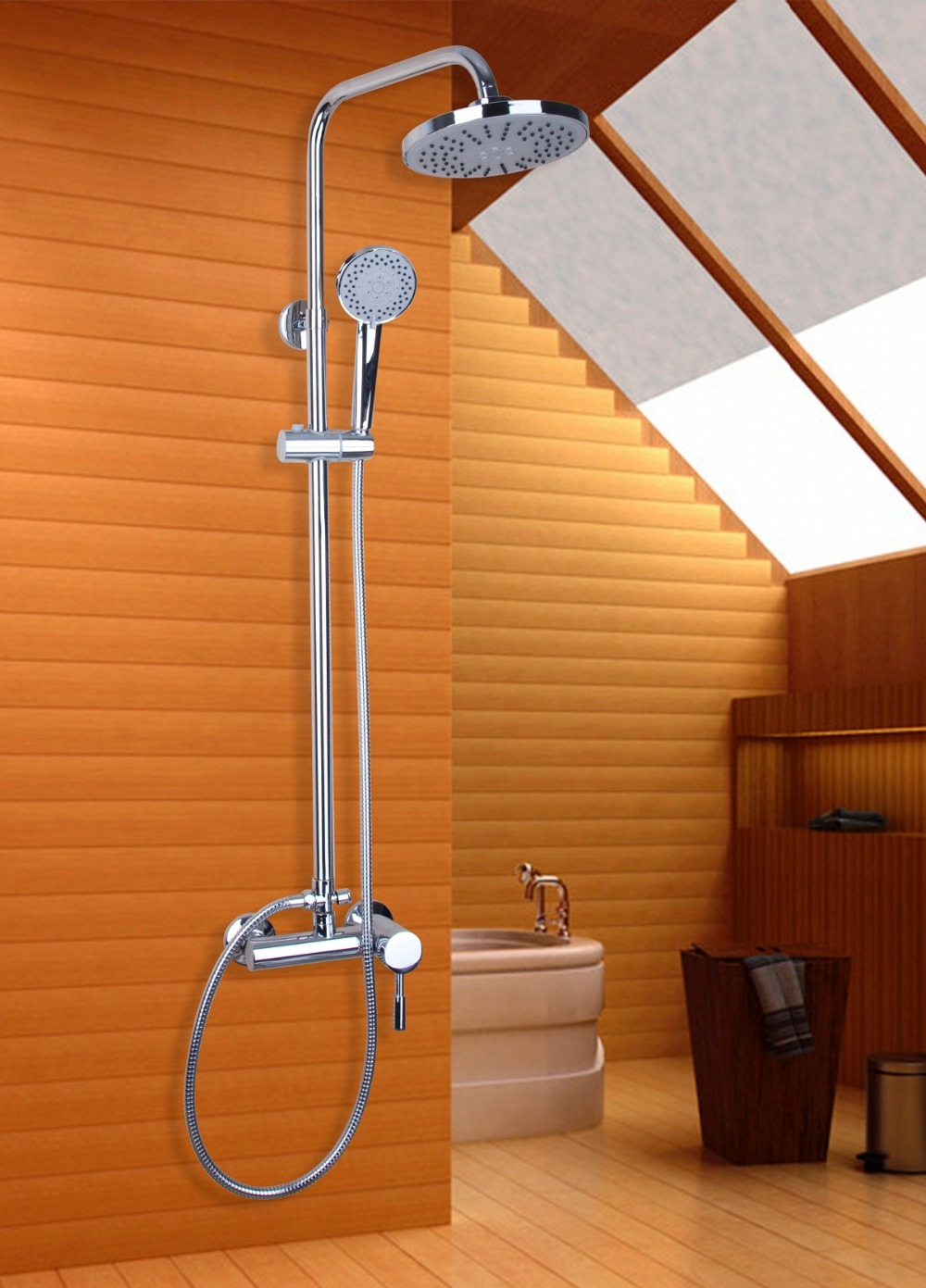 Wonderful Cheap Shower Systems Contemporary - Bathroom with Bathtub ...