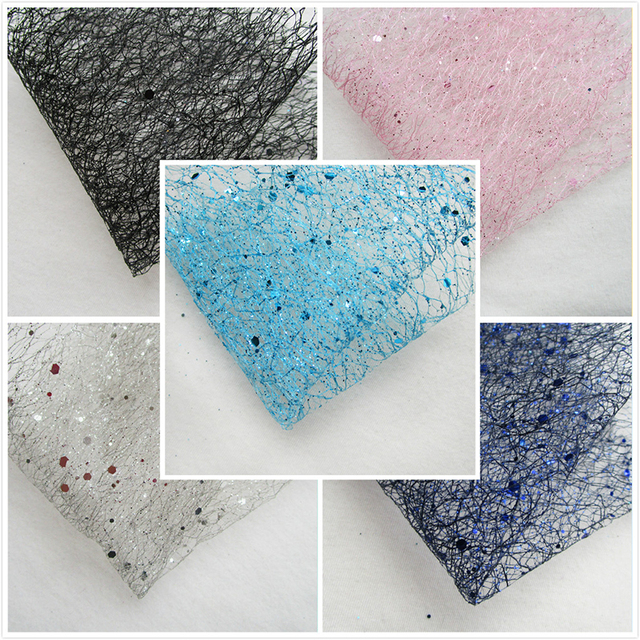 1piece New Sequin Wedding Shining Voile Mesh Fabric Unique Christmas  Decoration Sparkle Party Supplies Pink Hard Net Cloth tissu a62cdbc1d592