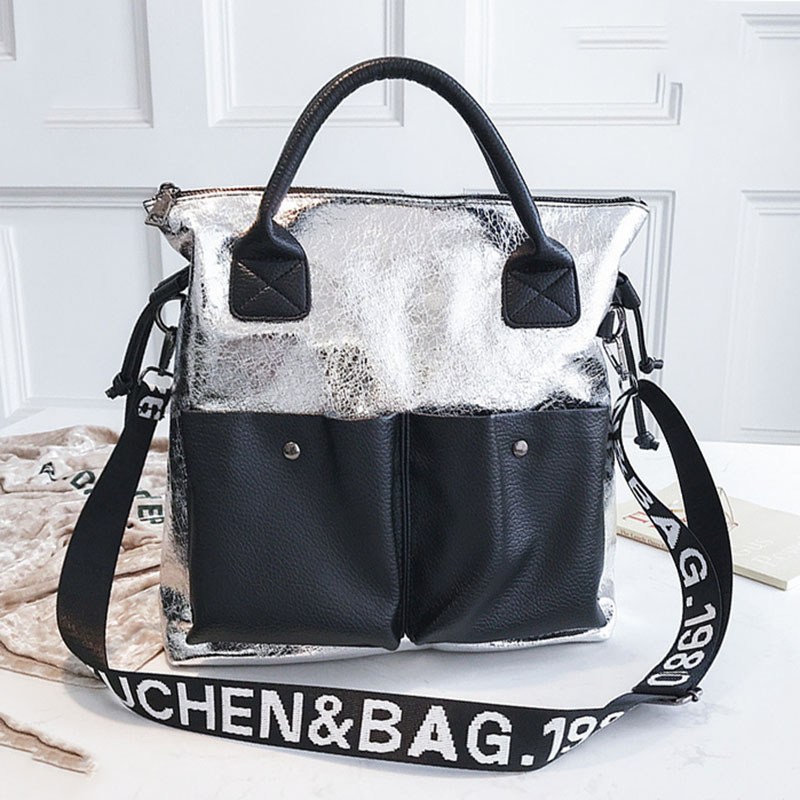 Fashion Women Handbag 2019 New Leather Large Capacity Women's Shoulder Bags Solid Color Retro Messenger Bags Female Casual Tote