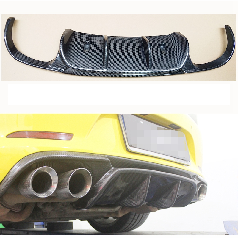 VRS Style Real Carbon Fiber Rear Bumper Diffuser For Porsche 911 991 Carrera & Carrera S Models 2012 2013 2014 2015-in Body Kits from Automobiles & Motorcycles    1