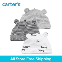 Carter's 3-Pack baby children kids clothing Boy soft cotton prints 3D ears Caps 126H175