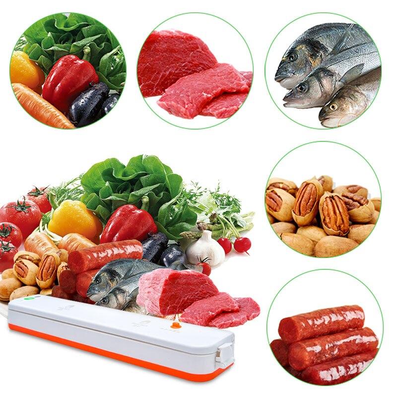 110V/220V Vacuum Packing Food Machine Low Noise Electric Food Sealer Saver With 10 Vacuum Bags Household Food Vacuum Machine