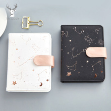 Starry Star Moon PU Leather Notebook Hardcover Paper Journal Diary Planner Notepad Stationary Kids Gift Traveler Journal