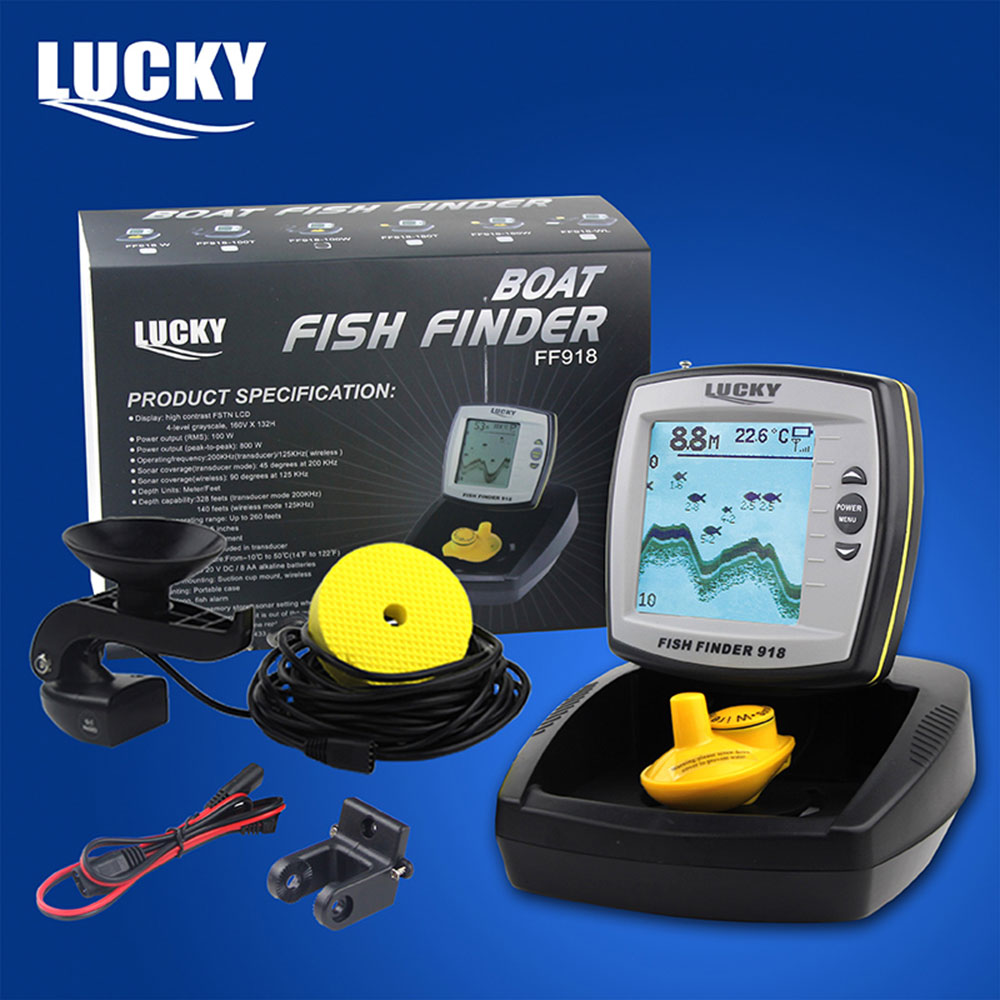 lucky boat sonar fish finder ff918 100w two modes cable ad, Fish Finder