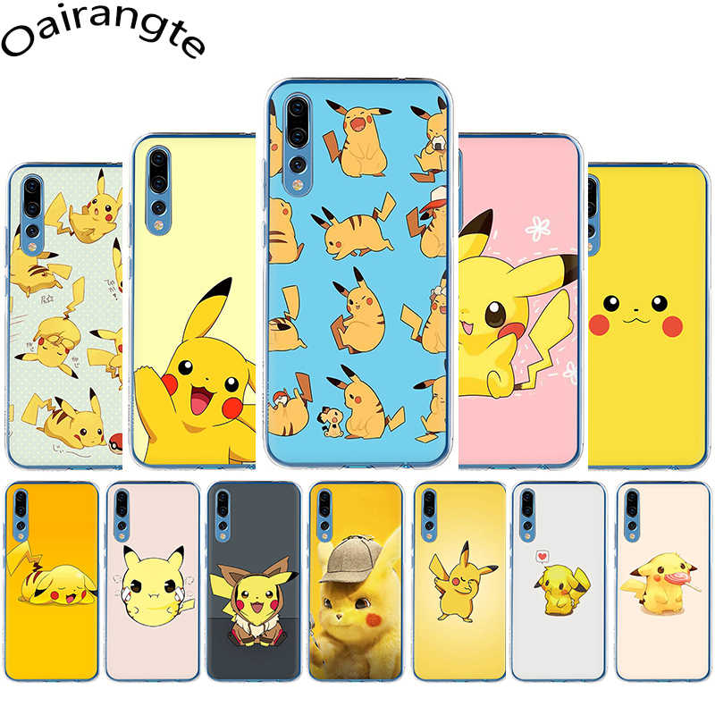 Detective Pikachu Hard Phone Cover Case for Huawei Honor 7A 2GB 3GB Pro 8 9 10 Lite