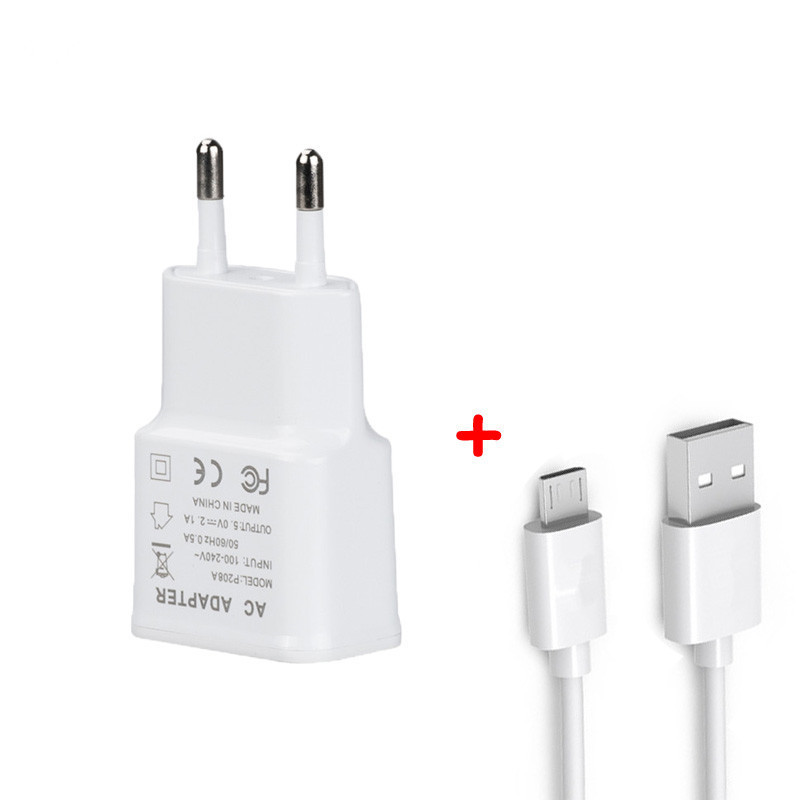 Galleria fotografica Micro USB Travel Wall Charger Adapter For Lenovo Tab 7 Essential Wi-Fi/Tab 4 8 10/Yoga 3 Pro Z8550/Tab3 8 LTE 1M Micro USB Cable