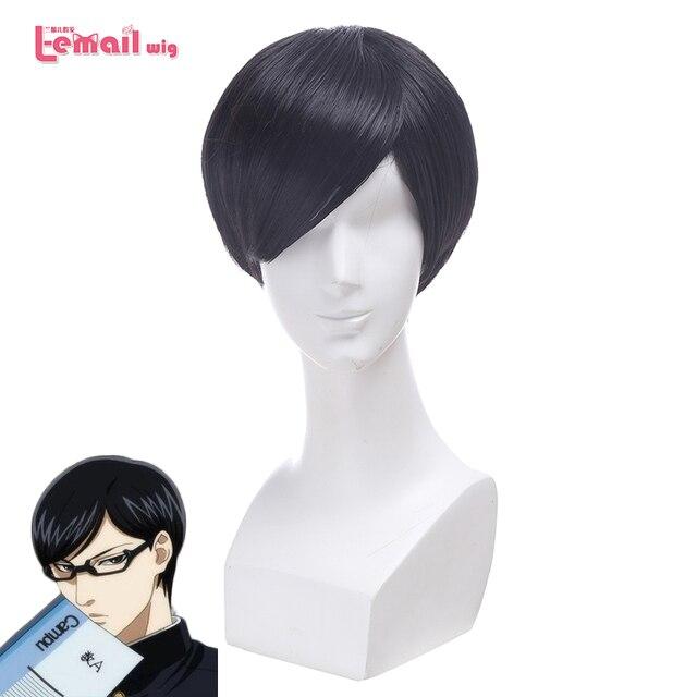 L-email wig 2016 Anime Sakamoto desu ga? Cospaly Wigs Sakamoto Short Black Synthetic Hair Peruca I'm Sakamoto Cosplay Wig