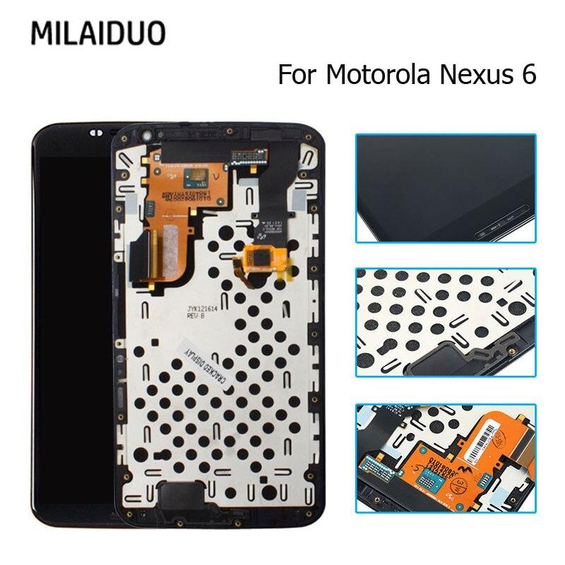 Écran LCD d'origine pour Motorola Moto Nexus 6 XT1100 XT1103 écran tactile numériseur assemblée remplacement noir avec cadre