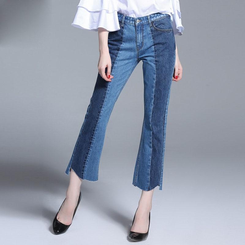 2017 Women's Casual Harem Bell Bottom Pants Plus Size Casual Women Long Palazzo Cotton Wide Leg Women Jeans Flare Pants harem pants for women plus size cotton 96