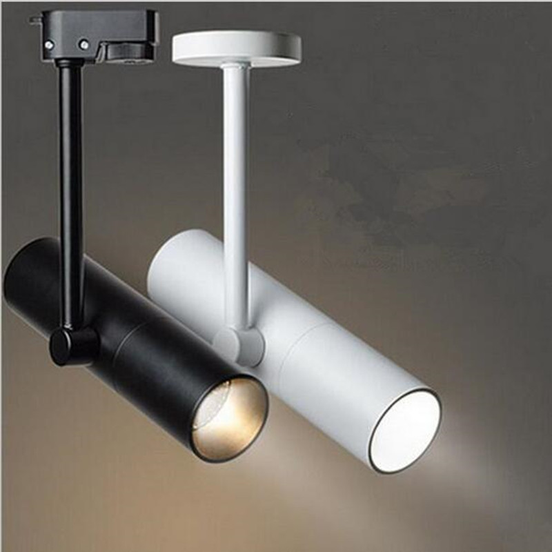 Movable Led Track Lighting: Adjustable 12W 15W COB LED Track Lighting Dimmable 110V