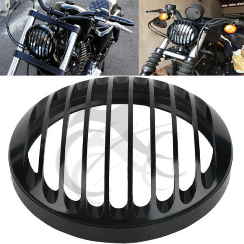 5 3/4 CNC Headlight Grill Cover For Harley Sportster XL 883 1200 2004-2014 2005 black headlight grill cover for harley sportster xl883 1200 04 up softail cover headlight covers 5 3 4