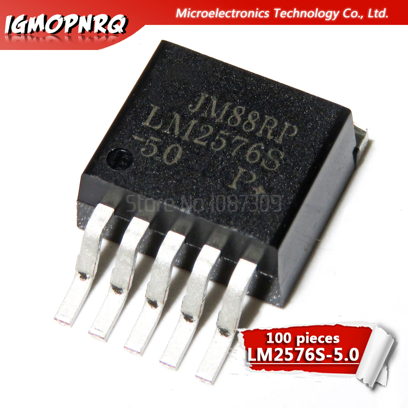 50pcs LM2576S-5.0 IC REG BUCK 5V 3A TO263-5 New