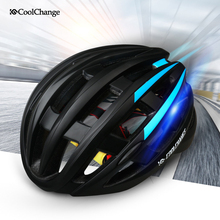 CoolChange 2016 Ultralight Integrally Molded Helmet Bicycle Helmet MTB Safety Warning Rear Light Cycling Helmet Bike Helmet